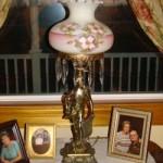 Statue Lamp W/Prisms